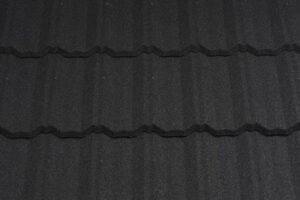 изображение композитной черепицы metrotile classic coal black, фотография